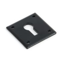 Wardlo sleutelrozet vierkant 40x40x2.5mm smeedijzer zwart