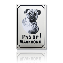 WH-01 emaille waakhondbord 'Boxer'