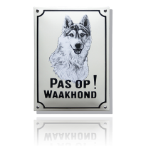 WH-07 emaille waakhondbord 'Husky'