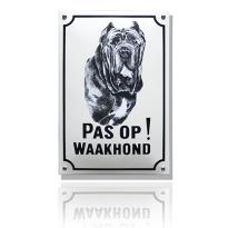 WH-08 emaille waakhondbord 'Mastif'