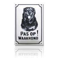 WH-09 emaille waakhondbord 'Rottweiler'