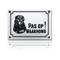 WHK-09 emaille waakhondbord 'Rottweiler'