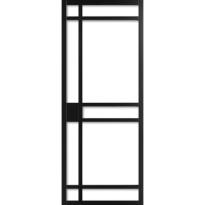 WK6334 schuifdeur industrieel met blank glas