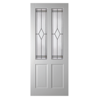 WK6542 opdek glas-/paneeldeur met glas in lood