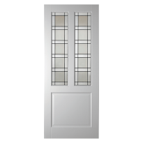 WK6552 opdek glas-/paneeldeur met glas in lood