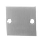 Blinde rozet GPF0900.08 50x50x2mm RVS geborsteld