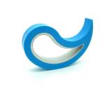 Deurstopper Stoppy lichtblauw, 10x8x2 cm
