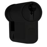 DOM Plura profielcilinder SKG**, halve cilinder zwart