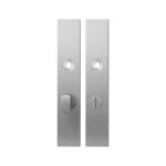 Langschild GPF1100.25 WC63/8 grote knop RVS geborsteld