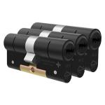 M&C Condor antikerntrek dubbele veiligheidscilinder gelijksluitend per 3, zwart