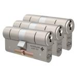 M&C Matrix antikerntrek dubbele veiligheidscilinder gelijksluitend per 3