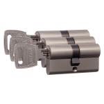 Nemef 132/9 profielcilinder NF3 serie dubbele cilinder gelijksluitend per 3
