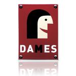 Pictogram 'Damestoilet' emaille rechthoekig