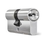 Profielcilinder DOM ix Teco SKG*** modulair, dubbele cilinder vernikkeld
