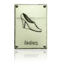 Emaille 'Damestoilet' pictogram rechthoekig