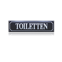 Emaille toilet bordje 'Toiletten' rechthoekig