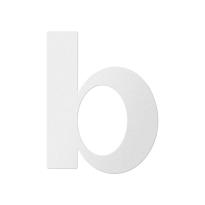 Huisnummer toevoeging letter 'B' wit, 110 mm
