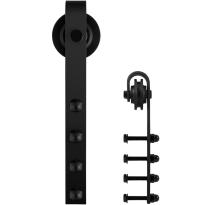 GPF0501.61 enkele schuifdeurhanger Raskas zwart