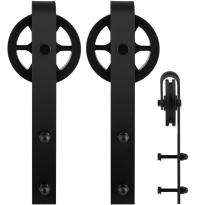 GPF0502.61 schuifdeurhanger set Teho zwart t.b.v. extra deur