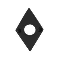 Rozet GPF6100.07 83x52x4mm smeedijzer zwart