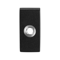 Rozet GPF8100.01 70x32x10mm zwart