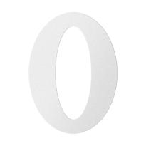 RVS huisnummer 0, wit