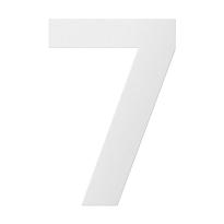 RVS huisnummer 7, wit