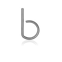 RVS huisnummer letter 'B', 10 x 130 mm grijs
