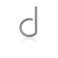 RVS huisnummer letter 'D', 10 x 130 mm grijs