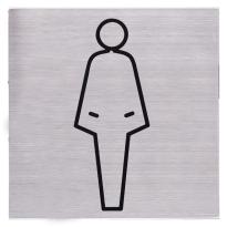 RVS pictogram 'Damestoilet' vierkant
