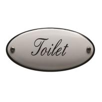 Toilet bordje emaille 'Toilet' ovaal