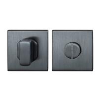 Toiletgarnituur GPF0910.02P1 50x50x8mm stift 8mm PVD antraciet grote knop