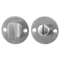 Toiletgarnituur GPF0910.06 50x2mm stift 8mm RVS geborsteld grote knop