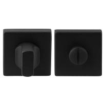 Toiletgarnituur GPF8911.02 50x50x8mm stift 5mm zwart grote knop