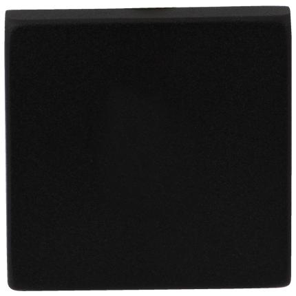 Blinde rozet GPF8900.02 50x50x8mm zwart