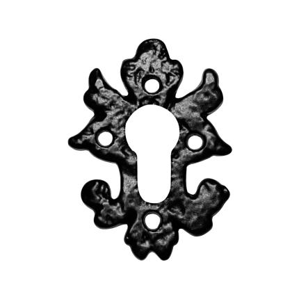 Cilinderrozet KP1063 82x60mm smeedijzer zwart