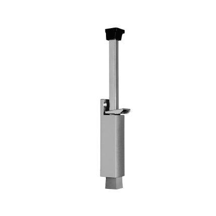 Deurvastzetter met voetstift Heavy duty, luxe 272x97 mm, zilvergrijs