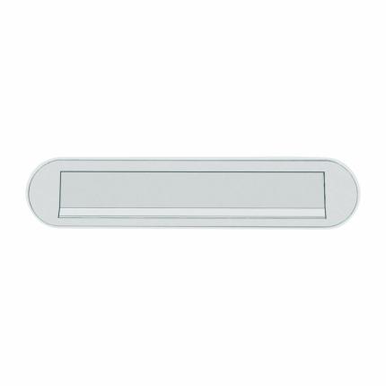 Hoppe aluminium F1 curved briefplaat, 73x350mm