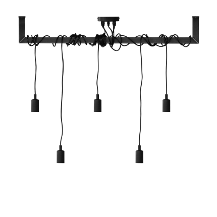 Industriële stalen lamp Metru frame + lamp