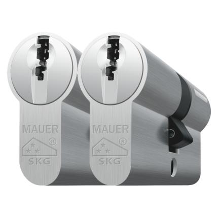 Mauer profielcilinder, DT1 serie, dubbele cilinder gelijksluitend per 2