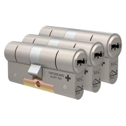 M&C Condor antikerntrek dubbele veiligheidscilinder gelijksluitend per 3