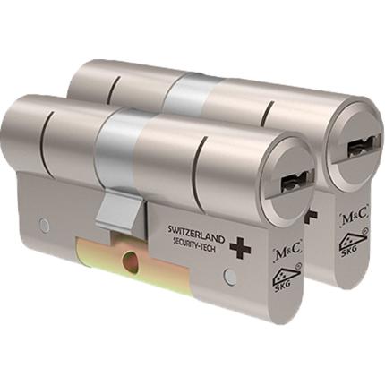 M&C Color+ antikerntrek dubbele veiligheidscilinder gelijksluitend per 2