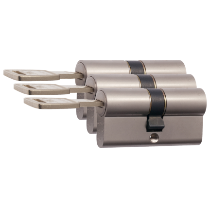 Nemef 142/9 profielcilinder NF4 serie dubbele cilinder gelijksluitend per 3
