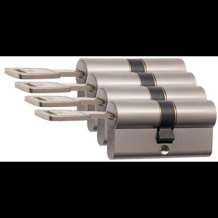 Nemef 142/9 profielcilinder NF4 serie dubbele cilinder gelijksluitend per 4