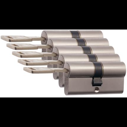 Nemef 142/9 profielcilinder NF4 serie dubbele cilinder gelijksluitend per 5