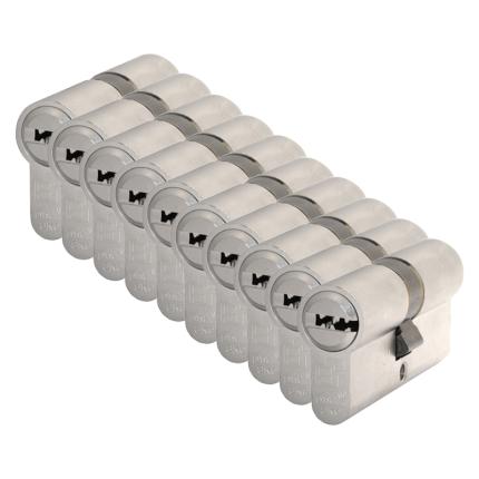 S2 antikerntrek veiligheidscilinders F6 gelijksluitend per 10, 30/30