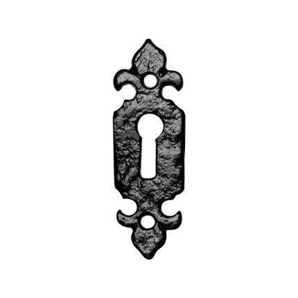 Sleutelrozet KP1493 80x26mm smeedijzer zwart