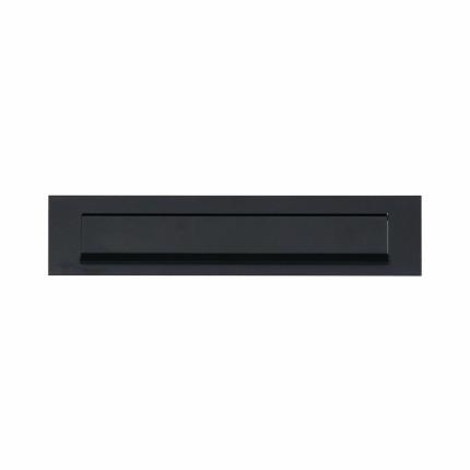 VEILIG briefplaat aluminium rechthoekig 73x340 zwart