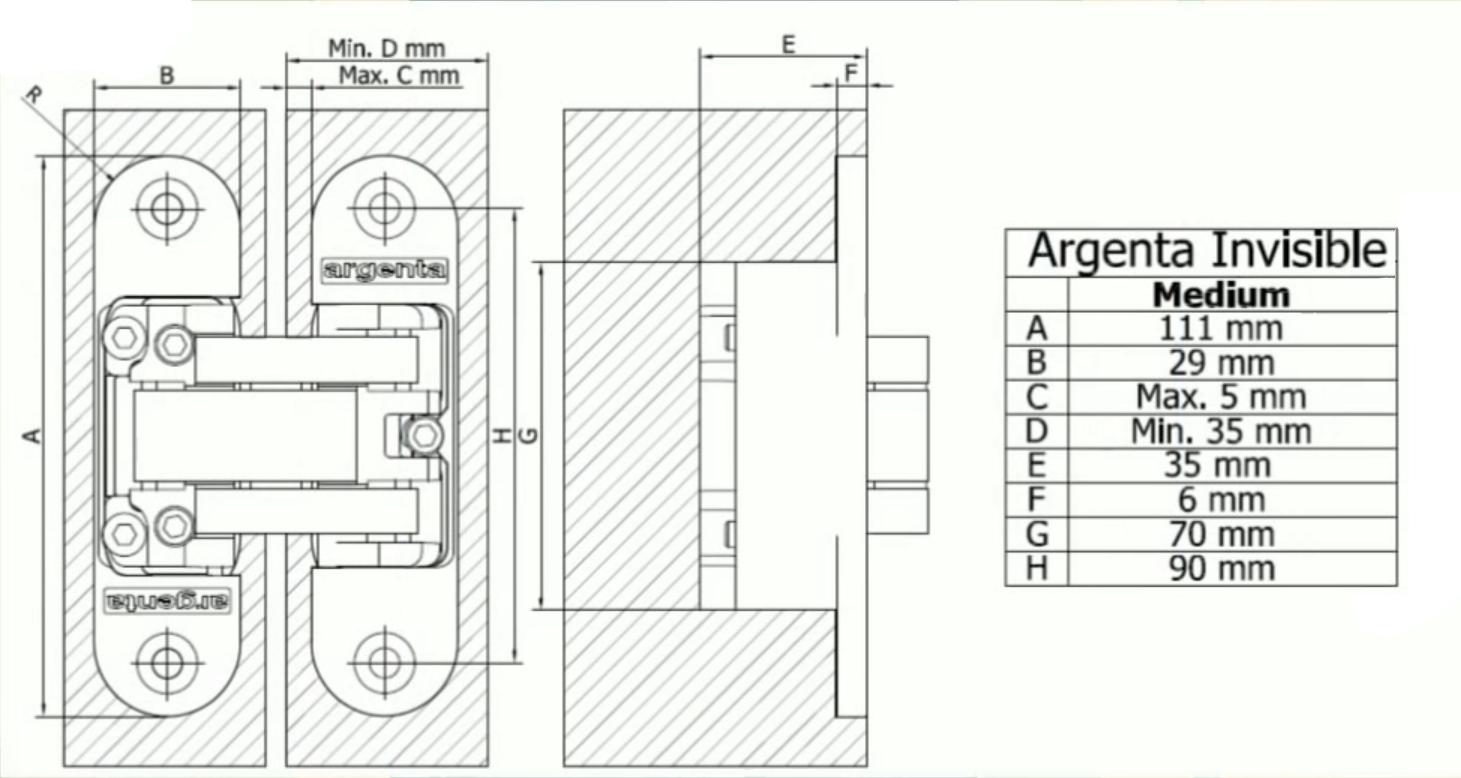 argenta invisible medium. Black Bedroom Furniture Sets. Home Design Ideas
