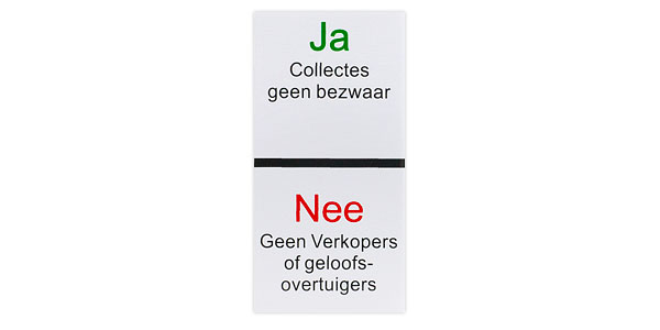 Geen collecte stickers